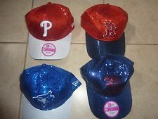 VICTORIAS SECRET PINK BLING SEQUIN MLB MAJOR LEAGUE BASEBALL CAP HAT CHOICE NWT
