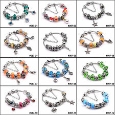 Fashion European Style Charm Crystal Murao Glass Bracelet &Bangle For Party Gift