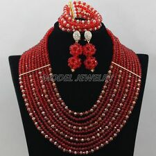 Nigerian Beads Necklaces in Bridals Sets,New Chunky Nigerian Beads Necklace Sets