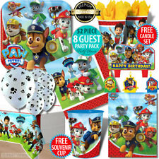 PAW PATROL BIRTHDAY PARTY SUPPLIES PARTY PACKS PLATES CUPS NAPKINS BALLOONS