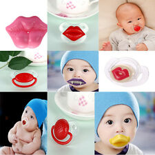 Funny Baby Toddler Infant Pacifier Dummy Lip Nipple Soother Silicone 10 style!