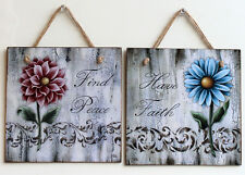 Decorative Shabby Chic picture plaques with decoupage technology. Vintage Rustic