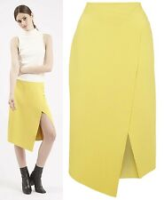 TOPSHOP Crepe Wrap Midi Skirt NEW in RRP £40 Size 6 to 14
