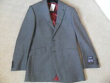 EX M&S ALFRED BROWN SARTORIAL BIRDS EYE PURE WOOL REGULAR FIT SUIT JACKET 38L