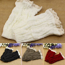 Placid Women Eulogize Knit Lace Trim Leg Warmers Cuffs Toppers Boot Socks Goodly