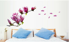 Magnolias Flowers Floral Removable Wall Sticker Decal Mural Art Home Decor Vinyl