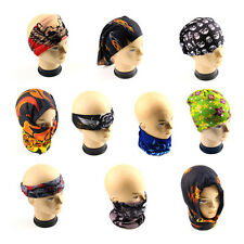 Head Face Neck Mask Multi Wear Cotton Tube Bandana Durag Biker Motorcycle Scarf