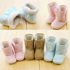 Cute Baby Infant 0-18M Boys Girls Warm Fur Winter Toddler Crib Shoes Snow Boots