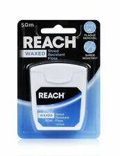 1x, 3x or 6x Reach Waxed Floss (Unflavoured) 50m - Bulk Bulk & Save! From $10ea
