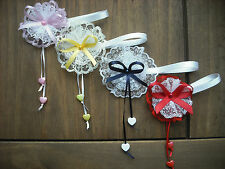 MAGNETIC DOLLS PRAM -CORSAGE -DECORATION IN NAVY,RED,YELLOW & PINK