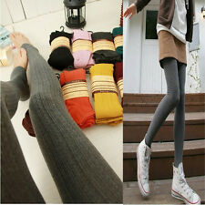 Women Knitted Skinny stirrup Leggings Thick Warm Stretch Tight Pants Wholesale