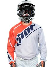 Thor Grey-Orange 2016 Phase Vented MX Jersey