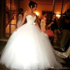 2016 IvoryWhite Wedding Bridal Dress Ball Gown Custom Size6-8-12-10-14-16-18