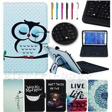 """PU Leather Case Cover Micro USB Keyboard w/ Stylus for 10"""" Tablet PC MID Pad"""