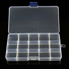 HOT Portabele Jewelry Bead Storage  Plastic Sub-grid Container  Compartments NEW