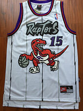 NBA Toronto Raptors Vince Carter Throwback White Jersey Sewn/Stitched NWT
