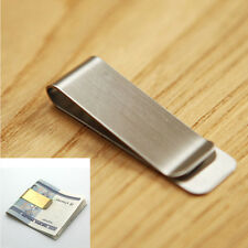 Simple Metal Money Clip 2 Color Man Clamp Holder For Money Wallet Silver/Gold