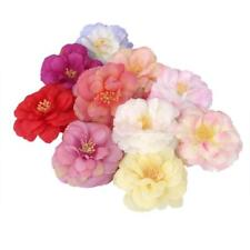 10Pcs Fake Camellia Flower Heads Silk Roses Wedding Party Decor Craft 9 Colors
