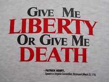 T-SHIRT, PATRICK HENRY AND OTHERS ON LIBERTY, gun control, black/red print