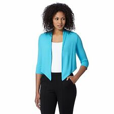 The Collection Womens Turquoise Cropped Jersey Cardigan From Debenhams