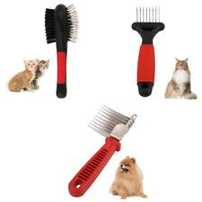 Pet Brush Dog Cat Hair Grooming Fur Shedding Comb Cleaning Tool 3 Types