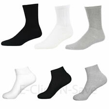 Wholesale Lot Men Solid Plain Sports Cotton Crew Ankle Socks 3 COLORS 9-11 10-13