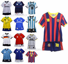 Football Summer Shorts Boys New Girls Top Vest Kit Set Size Age 3-4 Years Bnwt
