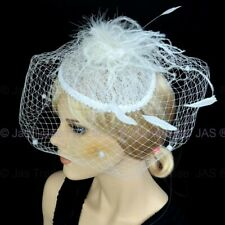 Melbourne Cup Spring Racing Headband Lace Hat Feather Hatinator Fascinator