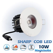 COB LED Dimmable Downlight 10W IP65 Fire Rated Recessed Soffit Ceiling Lights