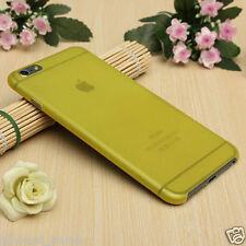 Yellow Transparent Matte Frosted Thin 0.3mm Shell Case for iPhone 6/6s Plus 5.5""