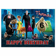 717; Personalised Birthday card; HOTEL TRANSYLVANIA 2; for any name; to little