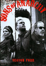 Sons of Anarchy: Season 4 (DVD, 2012, 4-Disc Set) New Factory Sealed