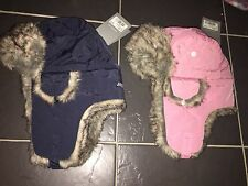 Musto Winter Faux Fur Hat - Trapper Hat - Unisex - Pink or Navy BRAND NEW