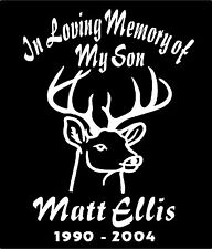 In Loving Memory Of Decal Two Personalized Deer Decals Car Window Vinyl Sticker