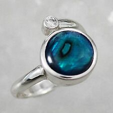 Schmuck-Michel Ring Silver 925 Paua Shell / Abalone Size 50-65 to choose (1140)