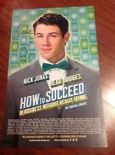 NICK JONAS SIGNED HOW TO SUCCEED THEATER POSTER BEAU BRIDGES URIE BROTHERS