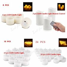 Warm White Flameless LED Tealight Tea Candles Wedding Light Battery Operated LOT