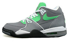 Mens NIKE AIR FLIGHT 89 Grey Leather Trainers Boots 306252 008