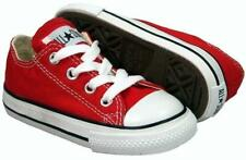 Infants CONVERSE CT AS OX Red Trainers 7J236 UK 7 / EUR 23 and uk 3 / eur 19