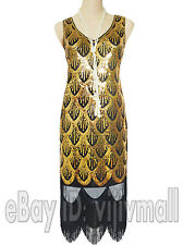1920s Flapper Dress Great Gatsby Vintage Sequin Tassel Party Charleston Costume