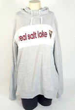 Adidas MLS Real Salt Lake Grey Scrunch Neck Hooded Sweatshirt Hoodie Women NWT