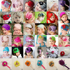 Baby Girl Infant Peacock Feather Headband Hairband Hairdress Hair Accessories