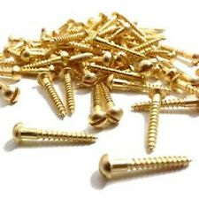 Solid Brass Slotted Round (Dome) Head Wood Screws, No.10 Various Sizes and Packs