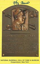 YOGI BERRA AUTOGRAPHED YELLOW HOF POSTCARD JSA CERTIFIED CONDITION VG
