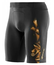 Skins A400 Mens Compression Half Tights (Black / Gold)