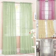 Sweet Hot Door Window Curtain Drape Panel Scarf Assorted Scarf Sheer Voile  E44