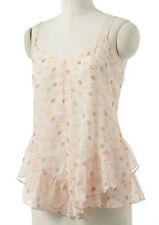 NWT~LAUREN CONRAD Floral Ruffle Chiffon Camisole Cami Tank Top~Size XS or S