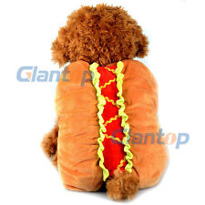 Lovely Hot Dog Pet Dog Costume Party Fancy Dress Funny Apparel Christmas Gift