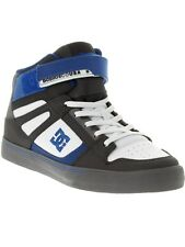 DC Grey-White-Blue Spartan High EV Kids Hi Top Shoe