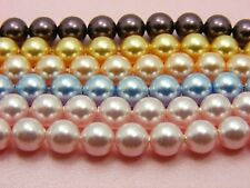 4 (pcs) Genuine SWAROVSKI 5810 Crystal PEARLS Round BEADS ~ 8mm or 10mm ~
